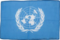 Transportation:Space Exploration, Apollo 15 Flown Larger-Size United Nations Flag Directly from thePersonal Collection of Mission Command Module Pilot Al Worde...
