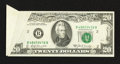 Error Notes:Foldovers, Fr. 2068-B $20 1969A Federal Reserve Note. Extremely Fine.. ...
