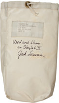 Transportation:Space Exploration, Skylab II (SL-3) Flown Beta Cloth Utility Bag (APK Style) Directlyfrom the Personal Collection of Mission Pilot Jack Lousma, ...