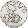 Transportation:Space Exploration, Apollo 1 Silver-Colored Fliteline Medallion From the PersonalCollection of Mission Pilot Roger Chaffee....