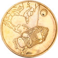 Transportation:Space Exploration, Apollo 1 Gold-Colored Fliteline Medallion From the PersonalCollection of Mission Pilot Roger Chaffee....