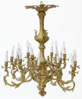 Decorative Arts, French:Lamps & Lighting, A FRENCH BELLE EPOQUE GILT BRONZE EIGHTEEN-LIGHT CHANDELIER .Unknown maker, probably Paris, France, circa 1900. Unmarked. 4...