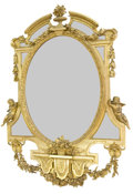 Paintings, RAY & CLARE STERN ESTATE. NAPOLEON III STYLE GILT WOOD MIRROR . France, circa 1900. 62 x 46 inches (157.5 x 116.8 cm). ...