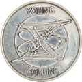 Transportation:Space Exploration, Gemini 10 Flown Fliteline Silver-Colored Medallion Directly from the Personal Collection of Mission Commander John Young, with...