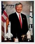 Autographs:Celebrities, John Young Signed NASA Color Portrait Directly from his PersonalCollection....