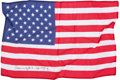 Transportation:Space Exploration, Apollo 16 Flown Larger-Size American Flag Directly from thePersonal Collection of Mission Commander John Young, Signed andCe...