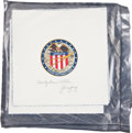 Transportation:Space Exploration, Apollo 16 Still-Sealed Pouch of Twenty-Five Unflown Beta ClothMission Insignias Directly from the Personal Collection of Miss...