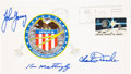 Transportation:Space Exploration, Apollo 16 Crew-Signed Insurance Cover Directly from the PersonalCollection of Mission Commander John Young, Signed and Certif...