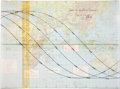 Transportation:Space Exploration, Apollo 16 Training-Used Earth Orbital Path Display Chart Directly from the Personal Collection of Mission Commander John Young...