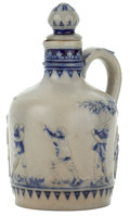 Ceramics & Porcelain, A GERZ STONEWARE PITCHER WITH STOPPER . Simon Peter Gerz, Hoehr, Germany, circa 1900. Marks: GES. GESCH., GERMANY, 021, ... (Total: 2 Items)