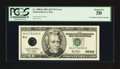 Error Notes:Inking Errors, Fr. 2088-K $20 2001 Federal Reserve Note. PCGS About New 50.. ...
