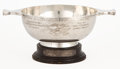Silver Holloware, British:Holloware, MALCOLM S. FORBES COLLECTION: GEORGE V SCOTTISH SILVER PRESENTATIONQUAICHE AWARDED BY THE EDINBURGH GREYHOUND RACING ASSOCIA...