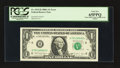 Error Notes:Miscellaneous Errors, Fr. 1915-H $1 1988A Federal Reserve Note. PCGS Gem New 65PPQ.. ...