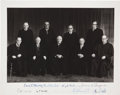 Autographs:Statesmen, Burger Supreme Court Photograph Signed...