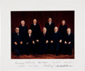 Autographs:Statesmen, Burger Supreme Court Oversized Color Photograph Signed by All NineJustices....