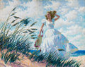 Mainstream Illustration, ARTHUR SARON SARNOFF (American, 1912-2000). An ExhilaratingBreeze. Oil on canvas. 24 x 30 in.. Signed lower left.F...