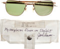 Transportation:Space Exploration, Skylab II (SL-3) Flown Sunglasses and Beta Cloth Case Directly from the Personal Collection of Mission Pilot Jack Lousma, Sign...