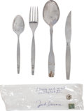 Transportation:Space Exploration, Skylab II (SL-3) Flown Personal Set of Dinner Flatware Directlyfrom the Personal Collection of Mission Pilot Jack Lousma, Sig...