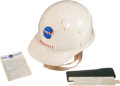 Transportation:Space Exploration, NASA Engineer's Hard Hat, Slide Rule, and Pocket Protector. ...(Total: 3 Items)