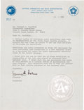 Transportation:Space Exploration, Apollo 11 Limited Edition Medal with Original Letter ofTransmittal.... (Total: 2 Items)
