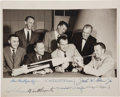 "Autographs:Celebrities, ""Mercury Seven"" NASA Astronauts Group Photo, Signed by All...."