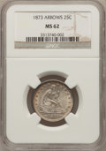 Seated Quarters, 1873 25C Arrows MS62 NGC....