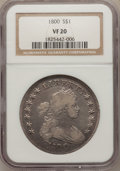 Early Dollars, 1800 $1 VF20 NGC. B-16, BB-187, R.2. ...