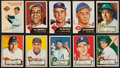 Baseball Cards:Lots, 1952-54 Topps and Wilson Franks Collection (24) with HoFers. ...