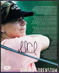 Golf Collectibles:Autographs, Annika Sorenstam Signed Photograph....