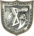 Transportation:Space Exploration, Apollo 10 Flown Silver Robbins Medallion Directly from the PersonalCollection of Mission Command Module Pilot John Young, Ser...