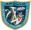 Transportation:Space Exploration, Apollo 10 Flown Embroidered Mission Insignia Patch Directly from the Personal Collection of Mission Command Module Pilot John ...