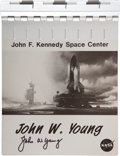 Transportation:Space Exploration, Space Shuttle: Personalized NASA Aluminum Clipboard Directly fromthe Personal Collection of Astronaut John Young, Signed. ...