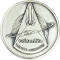 Transportation:Space Exploration, Space Shuttle Columbia (STS-1) Unflown Silver RobbinsMedallion Directly from the Personal Collection of Mission C...