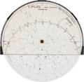 Transportation:Space Exploration, NASA Circular Star Chart, Unflown, Directly from the PersonalCollection of Astronaut John Young, Signed and Certified. ...