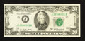 Error Notes:Ink Smears, Fr. 2072-J $20 1977 Federal Reserve Note. Very Fine-ExtremelyFine.. ...