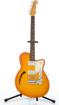 Musical Instruments:Electric Guitars, Revered Club King Orange Burst Electric Guitar #05027ZSG....