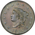 Large Cents, 1820 1C Large Date MS64 Brown PCGS. N-13, R.1. MRB MS60+. ...