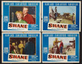"""Movie Posters:Western, Shane (Paramount, 1953). Lobby Cards (4) (11"""" X 14""""). Western.. ... (Total: 4 Items)"""