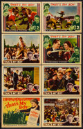 """Movie Posters:Sports, That's My Boy (Columbia, 1932). Lobby Card Set of 8 (11"""" X 14"""").Sports.. ... (Total: 8 Items)"""