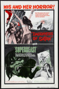 "Movie Posters:Horror, Daughters of Satan/Superbeast Combo Lot (United Artists, 1972). One Sheets (2) (27"" X 41"" and 28"" X 42""). Horror.. ... (Total: 2 Items)"