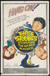 "The Three Stooges Go Around the World in a Daze (Columbia, 1963). One Sheet (27"" X 41""). Comedy"