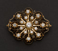 Estate Jewelry:Brooches - Pins, Exceptional Gold, Enamel & Diamond Brooch. ...