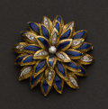 Estate Jewelry:Brooches - Pins, Enamel, 18k Gold & Diamond Brooch. ...