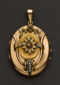 Estate Jewelry:Pendants and Lockets, Victorian Gold Locket. ...