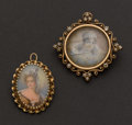 Estate Jewelry:Brooches - Pins, Two 14k Gold Portrait Pins. ... (Total: 2 Items)