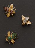 Estate Jewelry:Brooches - Pins, Three 14k Gold Bumblebee Pins. ... (Total: 3 Items)