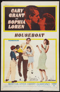 "Movie Posters:Comedy, Houseboat (Paramount, 1958). One Sheet (27"" X 41""), Photos (9) (8"" X 10""), Lobby Cards (6) (11"" X 14""). Comedy.. ... (Total: 16 Items)"