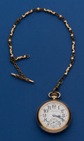 Timepieces:Pocket (post 1900), Hamilton 992 With Chain Pocket Watch. ...