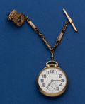 Timepieces:Pocket (post 1900), Hamilton 992 B Pocket Watch With Chain. ...