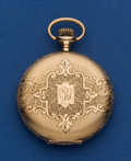 Timepieces:Pocket (post 1900), Elgin Fancy 14k Gold 12 Size Pocket Watch. ...